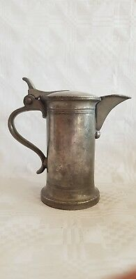Antique Pewter Small Lidded Jug - Holy Water
