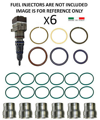 C7 Caterpillar Fuel Injector Sleeve Cup With Orings Cat 3126B 4035-6