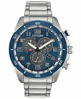 NEW Citizen Eco-Drive Men's Chronograph LTR Stainless Steel Watch AT2440-51L