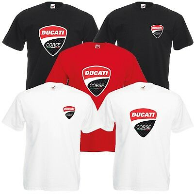 Ducati Corse T-Shirt Biker Motorcycle Rider VARIOUS SIZES & COLOURS