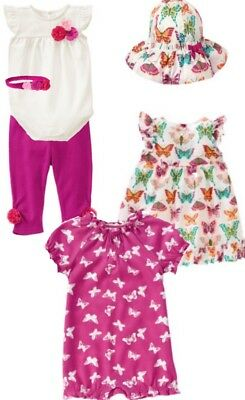 NWT Gymboree Girls Woodside Walk Butterfly Dress Hat /& Socks Set Size 0-3-6 M
