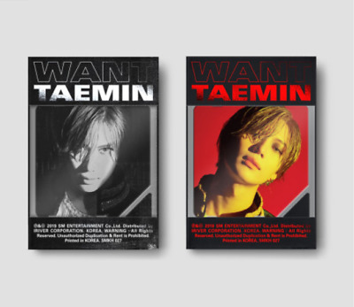 "K-POP SHINee Taemin 2nd Mini Album ""WANT"" [ 1 Khino Only ] More Ver"