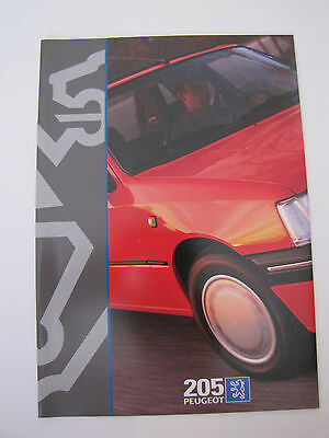Catalogue Commercial Peugeot 205   03/1996