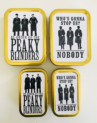By Order of Peaky Blinders TV 2oz 1oz Metal Tobacco Stash Storage Pill Tin Gift