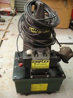 Simplex SUC-O-MATIC Electric Pump / powerpack PES 2032 £495 FREE Postage