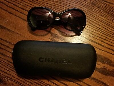 0cb2b9b6ae11 CHANEL BLACK WHITE Camellia Flower Logo 5113 Sunglasses - $189.00 ...