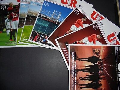 2016/17 Manchester United Home Programmes Choose From (Man Utd)