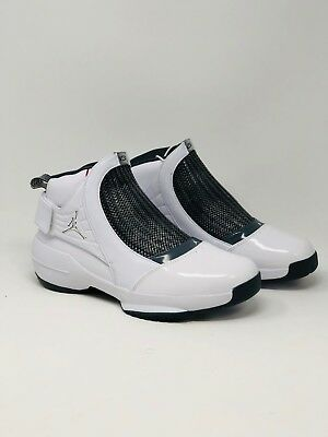 79da0a61def874 2019 NIKE AIR Jordan XIX 19 Retro SZ 11 White Chrome Flint Grey OG ...