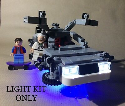 Moc Usb Led Light Kit Compatible With Lego Back To The Future Delorean 21103 Dmc