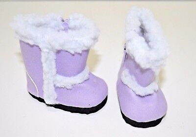 "Our Generation American Girl Journey Girl 18"" Dolls Clothes Purple Winter Boots"