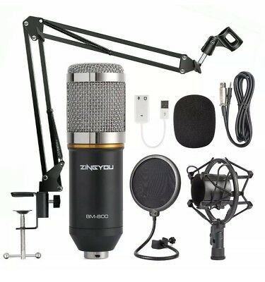 ZINGYOU Condenser Microphone Bundle BM-800 SILVER Table Mount Mic Stand KIT new