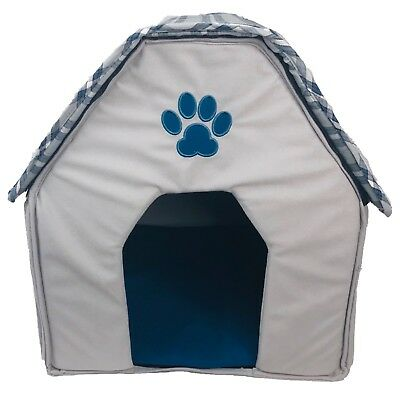 """New Foldable Pet House 16"""" x 16.5"""" x 18.5"""" Dog Cat Pad Soft Kennel Cushion Bed"""
