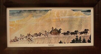 "Norman Rockwell ""STAGECOACH"" Framed Art Picture"