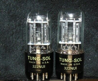 NOS PAIR Tung-Sol 6SN7GT VT-231 Vintage Tube's [] Getter Ear's Mica Black Plate
