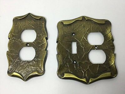 Lot Of 2 Vintage  Amerock Carriage House Light Switch Plate Covers