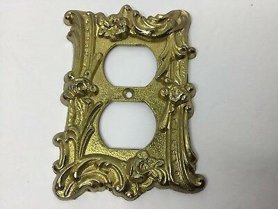Vintage Regency Decorative SwitchPlate /Outlet Cover Mid Century Metal