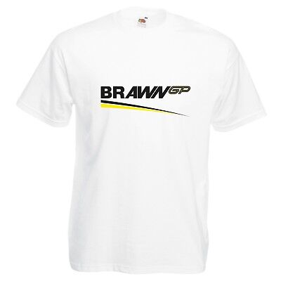Brawn GP T-Shirt VARIOUS SIZES & COLOURS Car Enthusiast Track Day F1 Racing
