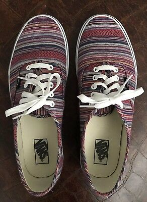 a04759a044 Vans Mens Authentic Guate Weave Skateboarding Shoes Size 11 Worn Once  Perfect