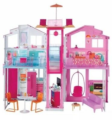 Barbie 3-Story Townhouse Childern Kids Girls Play Toy House Furniture DLY32 new