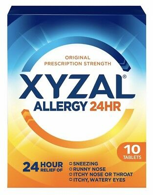 Lot of 2 NEW Xyzal Allergy 24 Hour Relief Tablets (35 ct, 5 mg, Ea) Exp. 08/2020