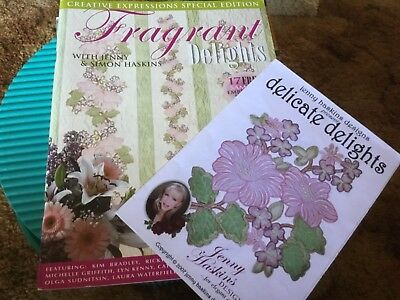 Jenny Haskins Machine Embroidery Book + CD,Fragrant Delights + Delicate Delights