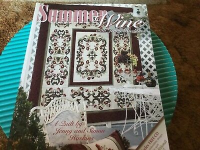 Jenny Haskins Machine Embroidery Book Summer Wine + CD with Designs