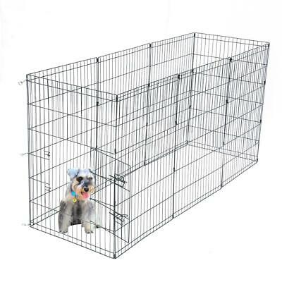 """36"""" Tall Wire Fence Pet Dog Cat Folding Exercise Yard Play Pen Supplies Black"""