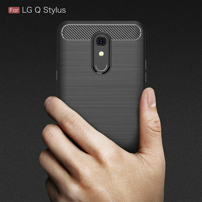 For LG Q Stylus Shockproof Protective TPU Back Cover Anti Knock Case
