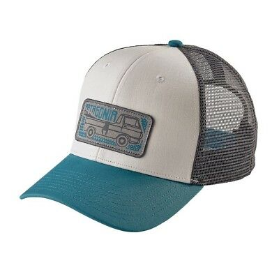 PATAGONIA PICKUP LINES Trucker HAT 38202 Mid Crown Blue with Blue ... d4beeedc5cd5
