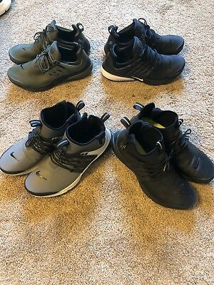 the latest 9c662 eaeac FOUR 4 PAIRS NIKE AIR PRESTO utility mid and low SIZE 9