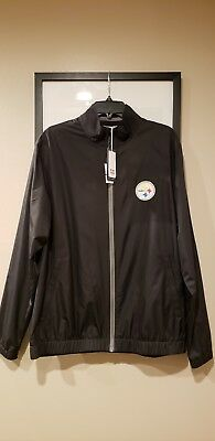 Cutter   Buck Pittsburgh Steelers Black Windbreaker Size Large Full Zip  Jacket cc1d0c3a4