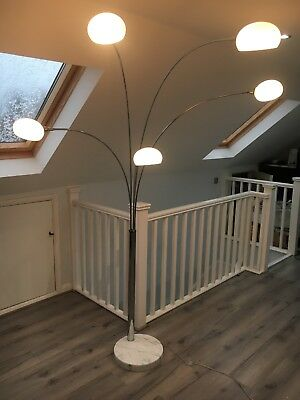 Decorative white and Chrome Lamp. Danalight Brand. Excellent Condition.