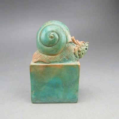 Chinese jade ,collection, hand-carved, snail, seals S470