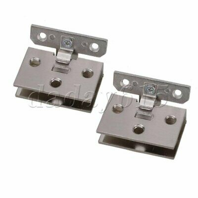 2X Shower Door Stainless Steel Glass-to-Glass Clamp Clip Hinge for 8mm - 10 Y9Y7