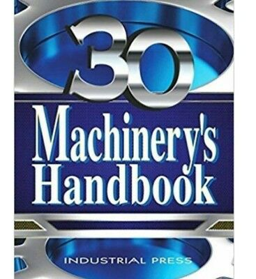 Machinery's handbook, Large Print 30th Edition, McCauley, Oberg, Erik PDF EBOOK