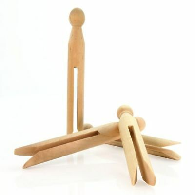 TRADITIONAL WOODEN DOLLY PEGS CLOTHES PINS 11cm - CLOTHES DRYING OR CRAFT  CHEAP