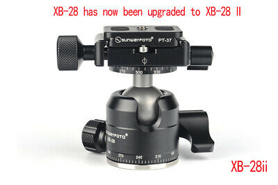 SUNWAYFOTO XB-28 II Low Profile Tripod Ball Head Arca RRS Compatible Sunway 28mm