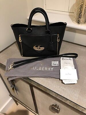 MULBERRY SMALL WILLOW Black Silky Classic Calf Leather d1c602fbe72e9