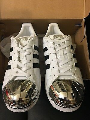 53d0ba8a857368 New Adidas Superstar Mt W Metal Toe White Leather Shoe Bb5114 Women Size  7.5 Us