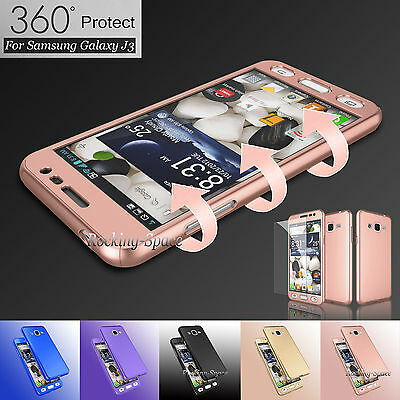 Hybrid 360° Full Body Protector Case Cover+Tempered Glass For Samsung Galaxy SKY