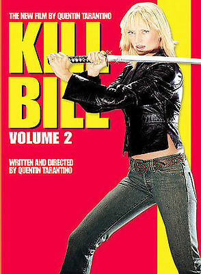 Kill Bill Vol. 2 DVD, 2004 Widescreen Thurman (Buy 2 DVD's $2.60 discount)