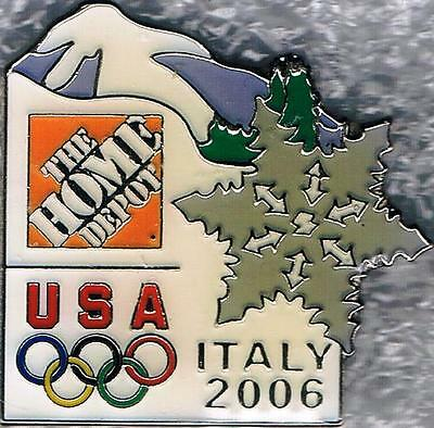 2006 Torino Home Depot USA Olympic Team NOC Sponsor Pin