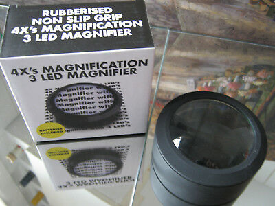 4X Magnification 3 Led Magnifier ( New )