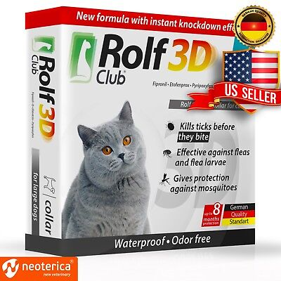 Rolf Club 3D FLEA Collar for Cats - Flea and Tick Prevention for Cats