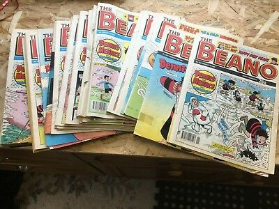 """48 x Vintage """"Beano"""" Comics from 1992, 3 with Gifts (23)"""