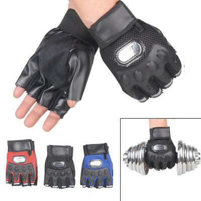 Gym Body Building Training Leather Gloves Sports Weight Lifting Workout Exercise
