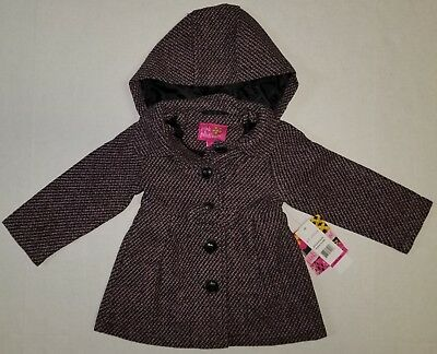 a94285bdf PINK PLATINUM BABY Girls Jacket Hooded Textured Wool Coat 24 Months ...