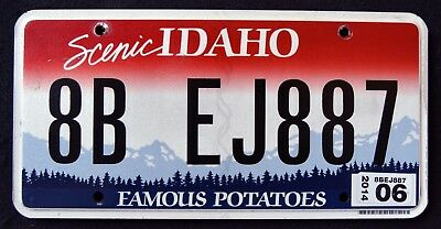"IDAHO "" FAMOUS POTATOES - SCENIC "" 2014 ID Graphic License Plate"