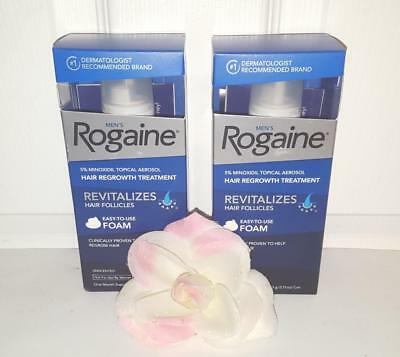Rogaine Men's Foam 5% Minoxidil Hair Loss Regrowth Treatment 2 Months 60 Days