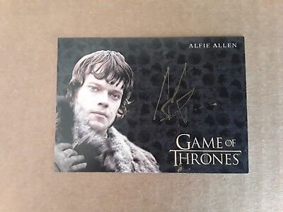 Game of Thrones Valyrian Steel Gold Alfie Allen as Theon Greyjoy Autograph Card